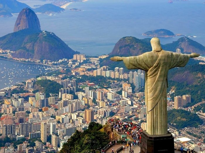 View of Rio de Janeiro's most iconic sights