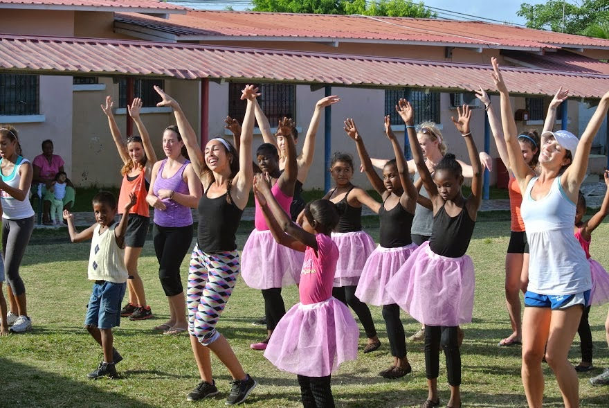 Dancers volunteer abroad at an orphanage